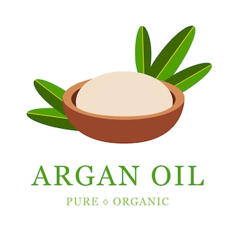 Argan oil skin care cosmetic. argan seeds, for the production of oil.