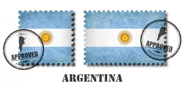Argentina or argentinian flag pattern postage stamp