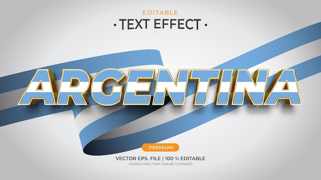 アルゼンチンの編集可能なテキスト効果