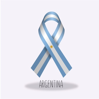 Argentina flag ribbon design