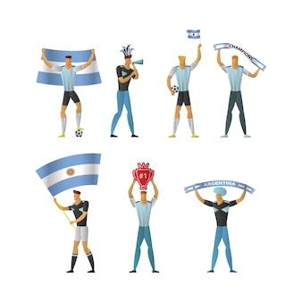Argentina football fans cheerful soccer