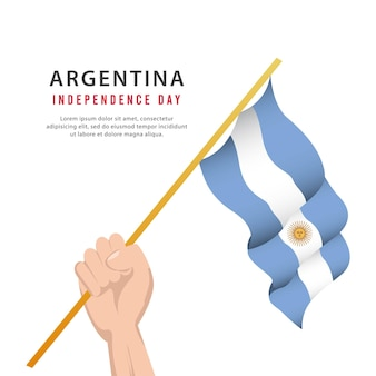 Argentina independence day argentina national day celebrations banners design template