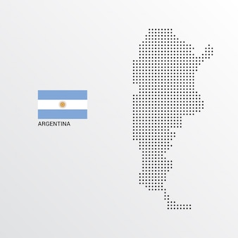 Argentina map design with flag and light background vector