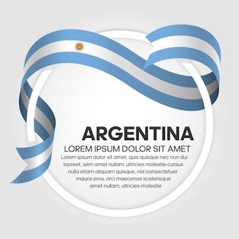 Argentina ribbon flag, vector illustration on a white background