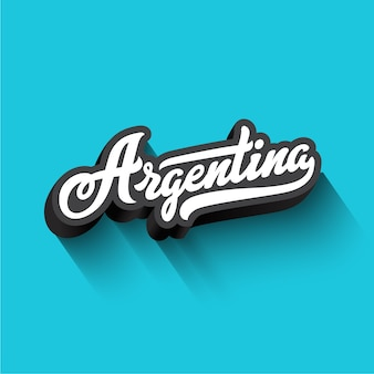 Argentina text calligraphy vintage retro lettering  .