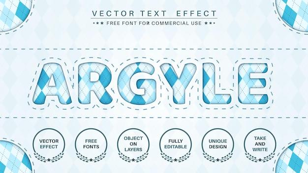Argyle  edit text effect font style