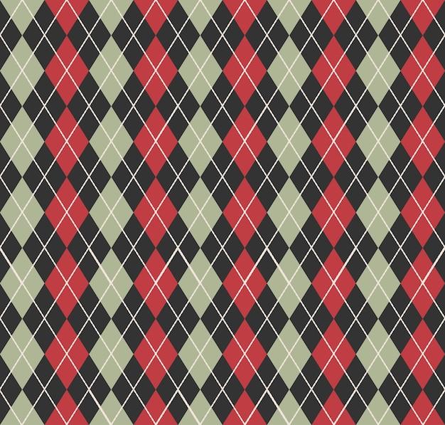 アーガイル柄。幾何学的なシンプルな背景。クリエイティブでエレガントなスタイルのイラスト