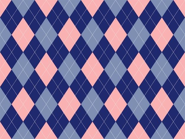 シームレスなアーガイルパターン。ファブリックのテクスチャ背景。古典的なアーギル飾り