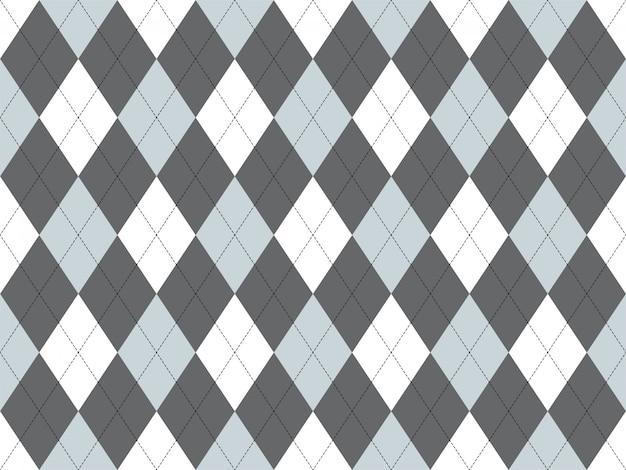 Бесшовные узор аргайл. предпосылка текстуры ткани. классический аргиловый орнамент