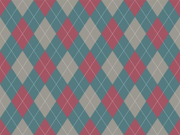 Бесшовные узор аргайл. предпосылка текстуры ткани. классический аргиловый орнамент.