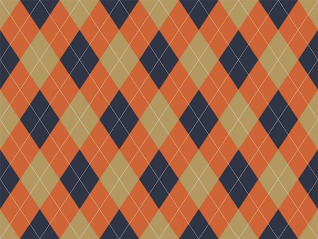 アーガイル柄シームレス。布のテクスチャの背景。古典的なアーギルベクター飾り