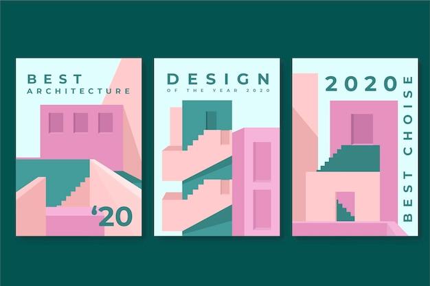 Modello di copertine di architettura