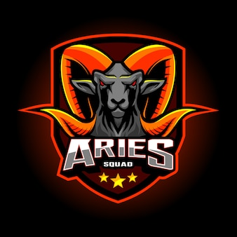 Aries esport mascot logo design