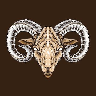 牡羊座の頭の図