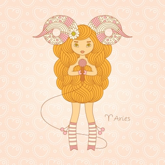 Aries zodiac horoscope sign.