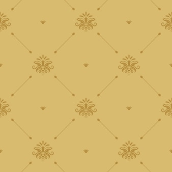 Aristocratic baroque wallpaper seamless. victorian retro pattern background.