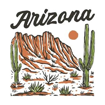 アリゾナ砂漠のイラスト
