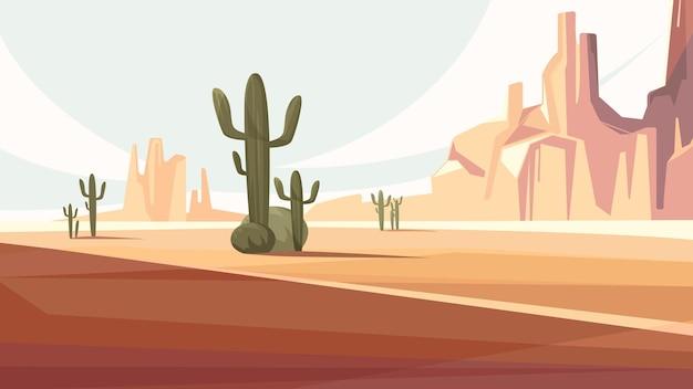 Arizona desert scenery. beautiful natural landscape.