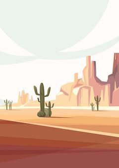 Пейзажи пустыни аризоны. природный пейзаж в вертикальной ориентации.