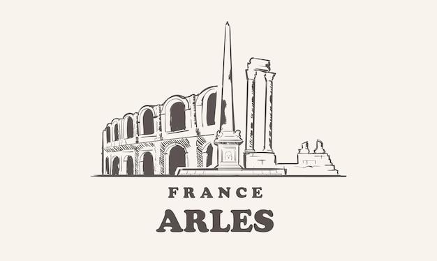 Arles 스카이 라인 아름다운 그림