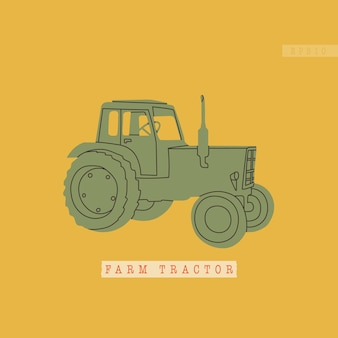 Arm tractor or harvester typical equipment for agroindustrial complexes