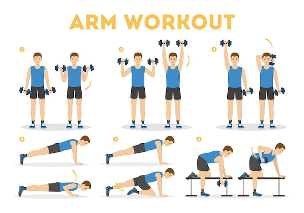 Arm workout for man. exercise for strong arms