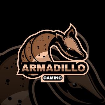 아르마딜로 동물 마스코트 로고 esport 로고 팀 스톡 이미지