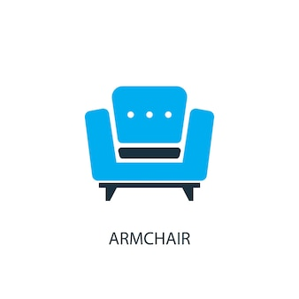 Armchair icon. logo element illustration. armchair symbol design from 2 colored collection. simple armchair concept. can be used in web and mobile.