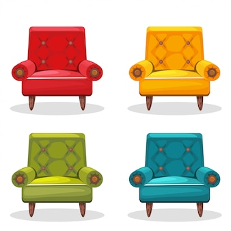 Armchair soft colorful homemade