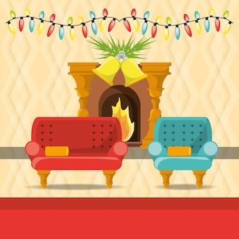 кресла и дымоход