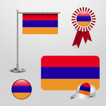 Armenia flag set