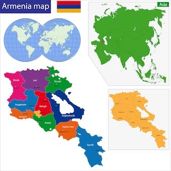 아르메니아지도
