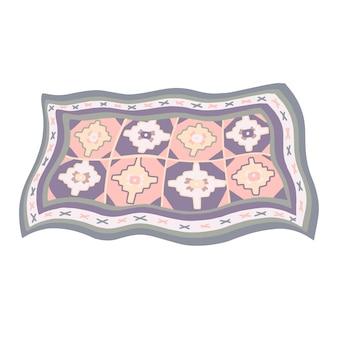 伝統的なアルメニアのパターンのイラストとアルメニアのカーペット