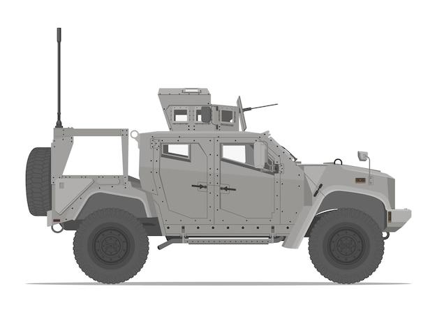 装甲戦術車両の側面図