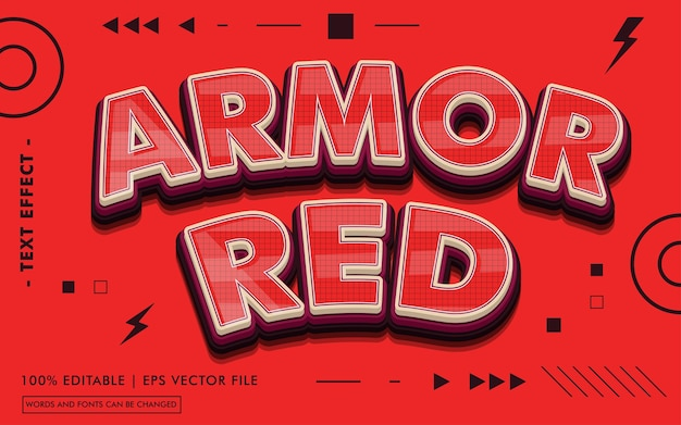 Armored text effect style