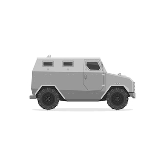 Armored vehicle isolated