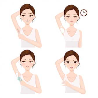 Armpit hair removal procedure by yourself