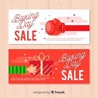 Arms boxing day template banner