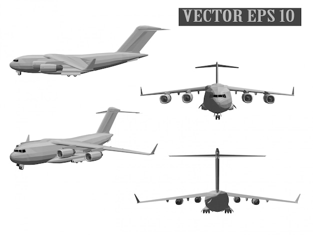 Army aircraft vector