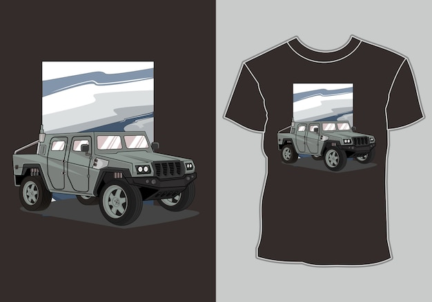 Army car t shirt