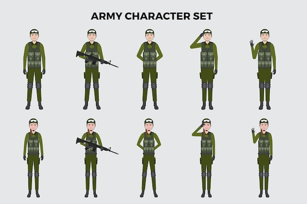 Army illustration  set