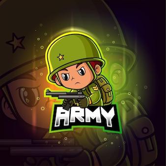 Армия талисман киберспорт красочный логотип