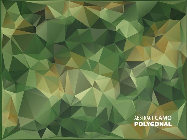 军队。伪装背景。由几何三角形形状制成。陆军插图。多边形风格。