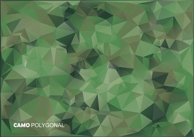 Армия военная. камуфляжный фон. изготовлен из геометрических фигур треугольников. армейская иллюстрация. многоугольный стиль.