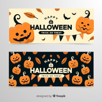 Army of pumpkins halloween banners