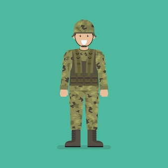 Army soldier character