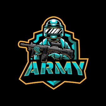 Army soldier mascot logo design