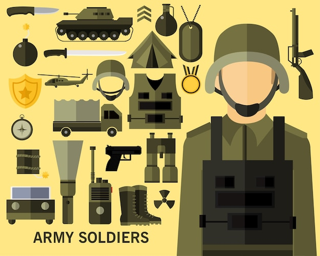 Army soldiers concept background.