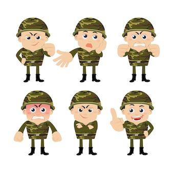 Солдаты армии в разных позах