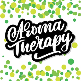 Aroma therapy letter. alternative medicine. healthy lifestyle concept. organic sign.